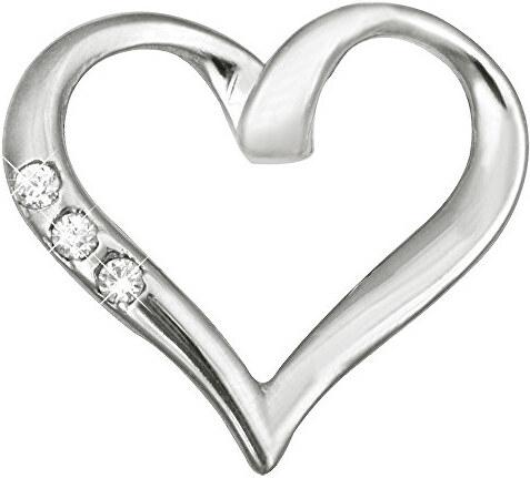 7904f15a7 Brilio Zlatý prívesok srdce s kryštálmi 249 001 00354 07 - 0,85 g ...