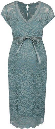 Tyrkysové čipkované šaty Mama.licious New Mivana - Glami.sk fcef3ec249a