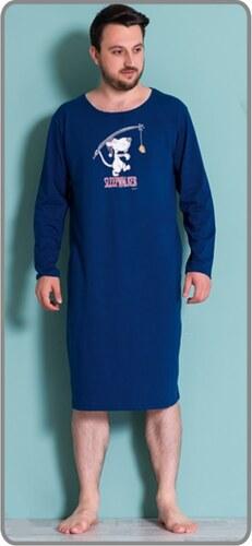 c668599be51 Gazzaz Pánská noční košile s dlouhým rukávem Sleepwalker - tmavě modrá