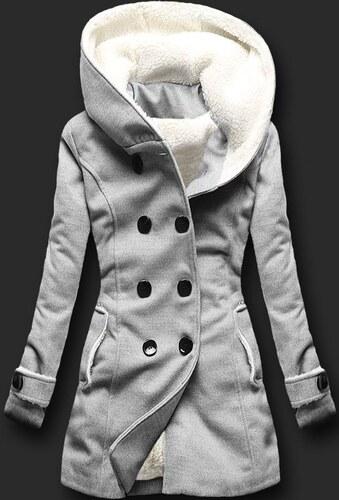 Dámský zimní kabát Kapiture šedý - šedá - Glami.cz 68cddc6f8d