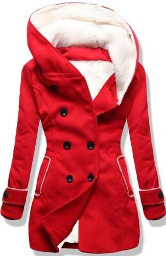 Dámský zimní kabát Kapiture červený - červená - Glami.cz 808f437d4cb