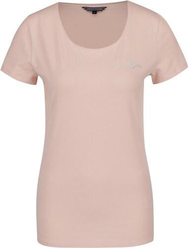 Svetloružové dámske tričko Tommy Hilfiger - Glami.sk b84fac5c0c7