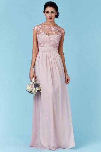 Goddiva Růžové šifónové šaty Flower Dream - Glami.cz fa9d75e90e