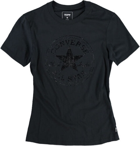 Dámske čierne tričko Converse Metallic CP Crew Tee - Glami.sk 32a1d54826c