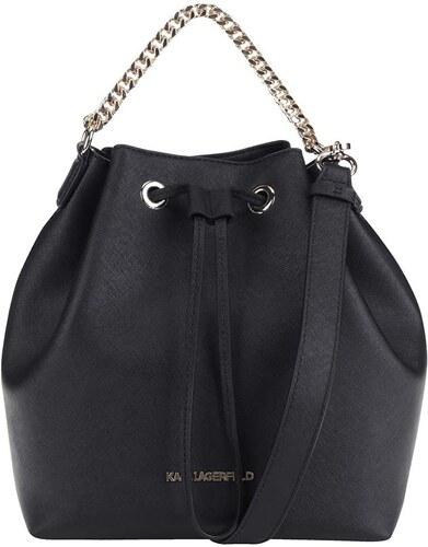Čierna kožená kabelka KARL LAGERFELD - Glami.sk 826a7af46fa