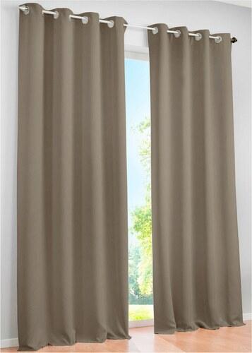 bpc living bonprix panneau occultant uni 1 pce beige pour maison. Black Bedroom Furniture Sets. Home Design Ideas