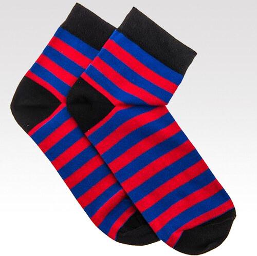 Ombre Clothing Pánské ponožky Stripes červeno-modré - Glami.cz d3da0b57d1