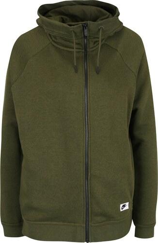 Zelená dámská mikina s kapucí Nike Sportswear Modern Cape - Glami.cz 410068c543a