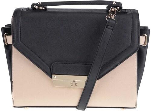Béžovo-čierna menšia kabelka so zlatými detailmi Dorothy Perkins ... 0dd745ff690