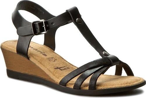 a2e54ec566d9 Sandále TAMARIS - 1-28218-28 Black Blk Met. 090 - Glami.sk