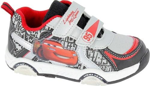 Disney by Arnetta Chapecké svietiace tenisky Cars - červeno-čierne ... 81ecaef190b
