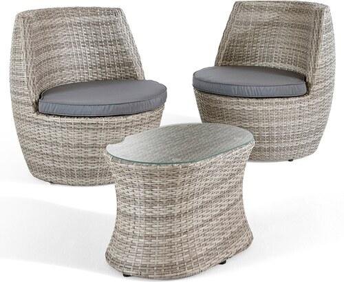 bpc living balkonm bel set grace 5tlg in grau von bonprix. Black Bedroom Furniture Sets. Home Design Ideas