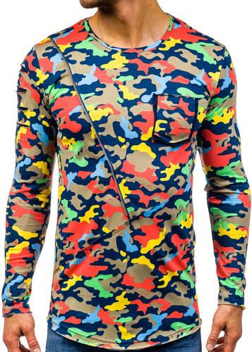 489b02b38ed8 -28% Béžové pánské maskáčové tričko s dlouhým rukávem a potiskem Bolf 1090