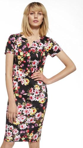 Enny Čierne kvetované šaty 230026 - Glami.sk a394d5cd07c
