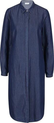 Tmavě modré džínové košilové šaty VILA Explore - Glami.cz f65299c673