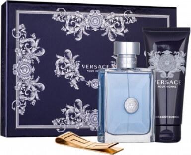 Versace Pour Homme dárková kazeta pro muže toaletní voda 100 ml + sprchový  gel 100 ml + spona na bankovky Versace 2 68572 1967ab5c540