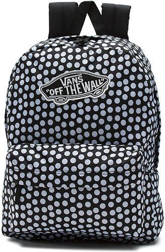 VANS Dámský černo-bílý batoh s puntíky Realm Backpack V00NZ0M9A ... 4f93bc69dc