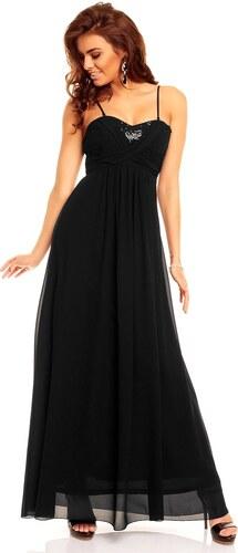Dlouhé černé plesové šaty Paříž - Glami.cz 0cf59f78ba