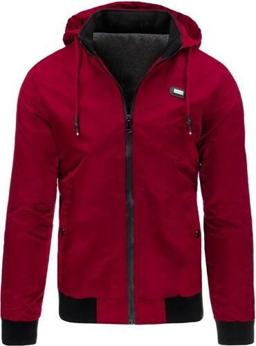 Vínovo červená pánska nylonová bunda - Glami.sk d9206205bdf