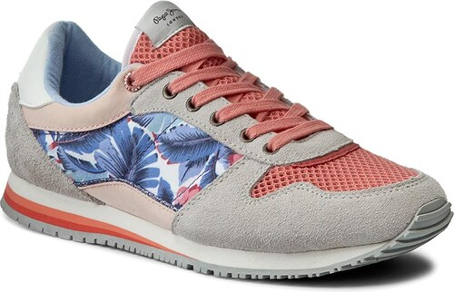 1cde2fd5b0 Sneakers PEPE JEANS - Sydney Lace PGS30268 Bright Coral 342 - Glami.ro