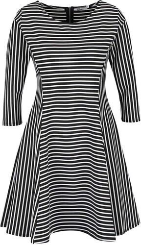 Bílo-černé pruhované šaty ZOOT - Glami.cz 6029a4c76a