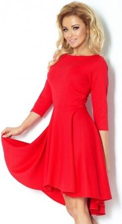 058b3f73db29 Luxusní dámské společenské a plesové šaty s 3 4 rukávem červené NUMOCO 90-4