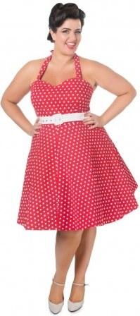 1ecdb8d71fb8 Dámské retro šaty Dolly and Dotty Cirle Red White Polka Dolly and Dotty  S605AH