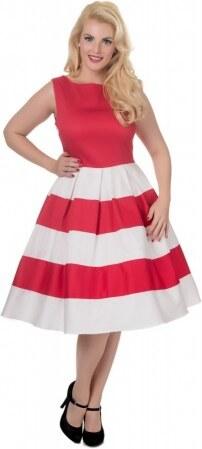 Nové Dámské retro šaty Dolly and Dotty Anna červené s bílou Dolly and Dotty  V332 21ac783c9c6
