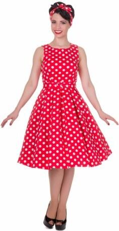 Dámské retro šaty Dolly and Dotty Annie červené s bílou Dolly and Dotty S905 b2c787f7849