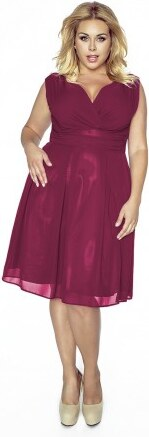 cc3443548e74 Krásné dámské šaty šifonové bez rukávu vínové 1175 Kartes KM117-5PS ...