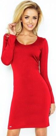 635b829e56d Elegantní šaty s dlouhým rukávem červené ELA 923 NUMOCO 92-3 - Glami.cz