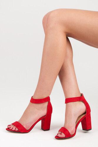 3fd29cd67f85 SEASTAR Veľmi pohodlné a elegantné červené sandále na suchý zips ...
