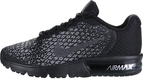 Sivo-čierne dámske vzorované tenisky Nike Air Max Sequent - Glami.sk d4747e9315e