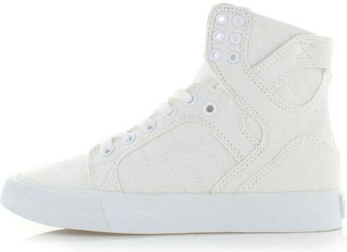 9f791f22f92b Dámske biele členkové tenisky Supra Skytop D - Glami.sk