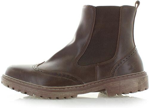 f9ba0a171d Dude Shoes Pánske hnedé členkové čižmy Licata - Glami.sk