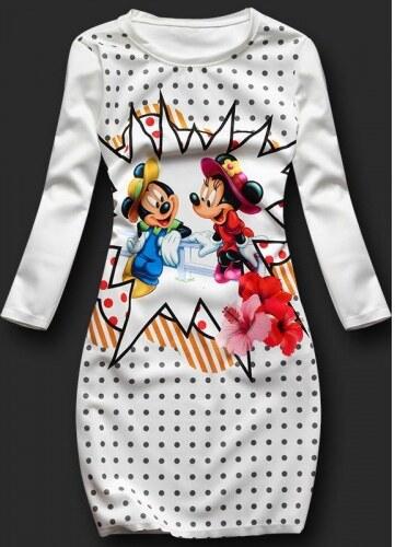 Dámské šaty Mickey and Minnie - bílá - Glami.cz d488611331