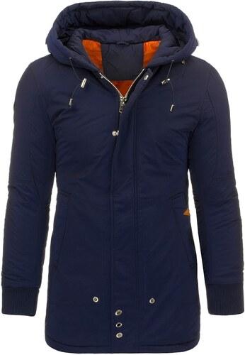 Moderní zimní tmavě modrá bunda - Glami.cz f850fa48e77