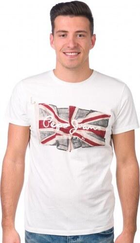 2e98c0a68d6 Pepe Jeans pánské tričko Flag Logo XXL bílá - Glami.cz