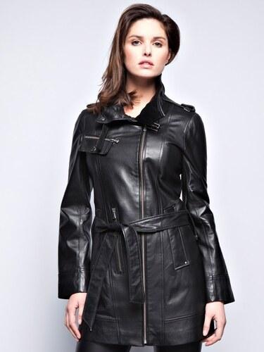 John Yoko Dámský kožený kabát KATIA NOIR - Glami.cz 65968a626cc
