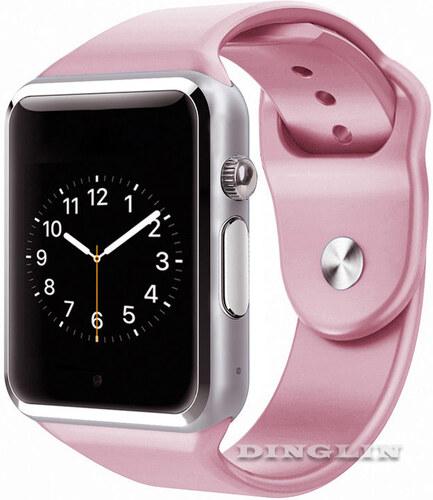 Chytré hodinky (náramek) Smart Watch Bracelet W8 Android iOS - růžové 97c07d1b2a