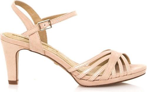Béžové sandály na nízkém podpatku Maria Mare - Glami.cz 66d347bfbf