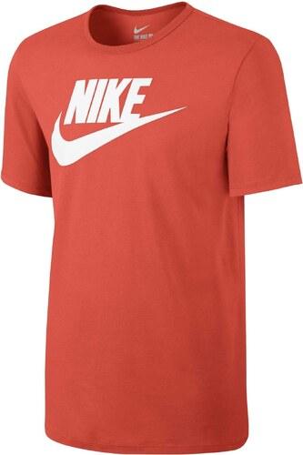 e932c05382dc Pánské tričko Nike M NSW TEE ICON FUTURA MAX ORANGE WHITE - Glami.cz