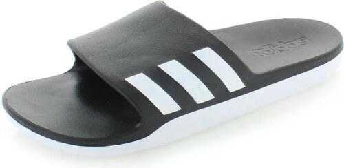 adidas PERFORMANCE Pánské černo-bílé pantofle ADIDAS Aqualette Cloudfoam  Slides 5c3019aa63