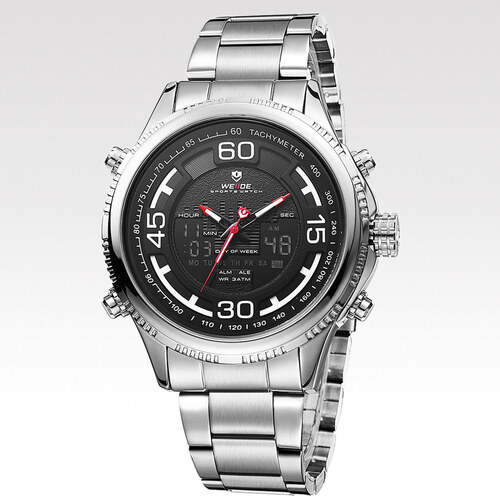 Weide Pánské hodinky Circle stříbrné - Glami.cz 2d66f9b7e6