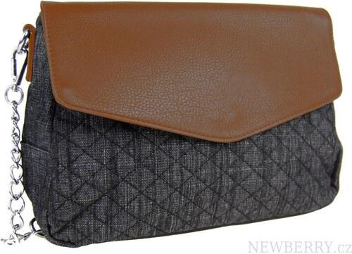 Tapple Dámska prešívaná crossbody kabelka C085 hnedá-čierna - Glami.sk b73eb76177c