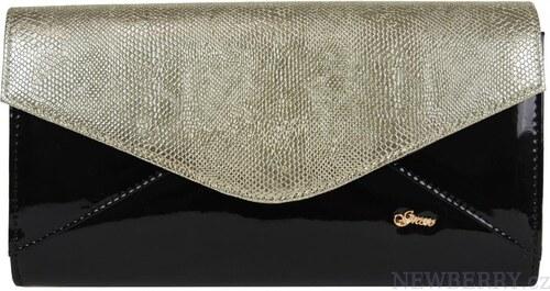 Čierno-zlatá spoločenská listová kabelka SP127 GROSSO - Glami.sk 426873276d8
