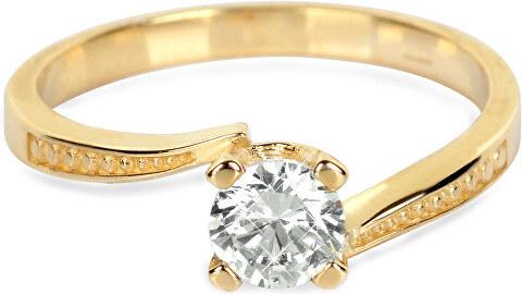 Brilio Zlatý zásnubný prsteň s kryštálom 226 001 01023 - 2 e400f078567
