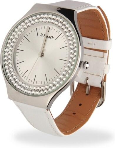 Spark Dámské bílé hodinky Centella se Swarovski Elements ZN40WC ... 08fb9d89e2