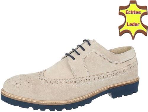 9d29b9d0f1101 Námornícke pánske topánky piesková farba z pravej kože - Glami.sk
