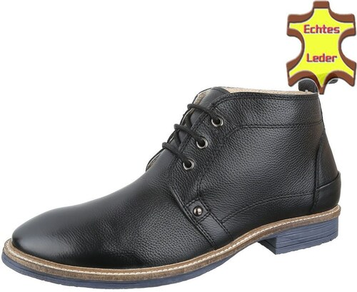Pánské kotníkové boty na vycházky z pravé kůže černé - Glami.cz 608fdac060